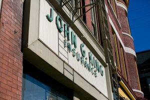 John G King Insurance Sign